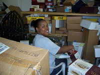 Volunteer Jasmine Owens Helps out at LifeClycle Building Center