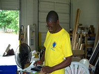 John Jackson helps out at the LifeCycle Building Center